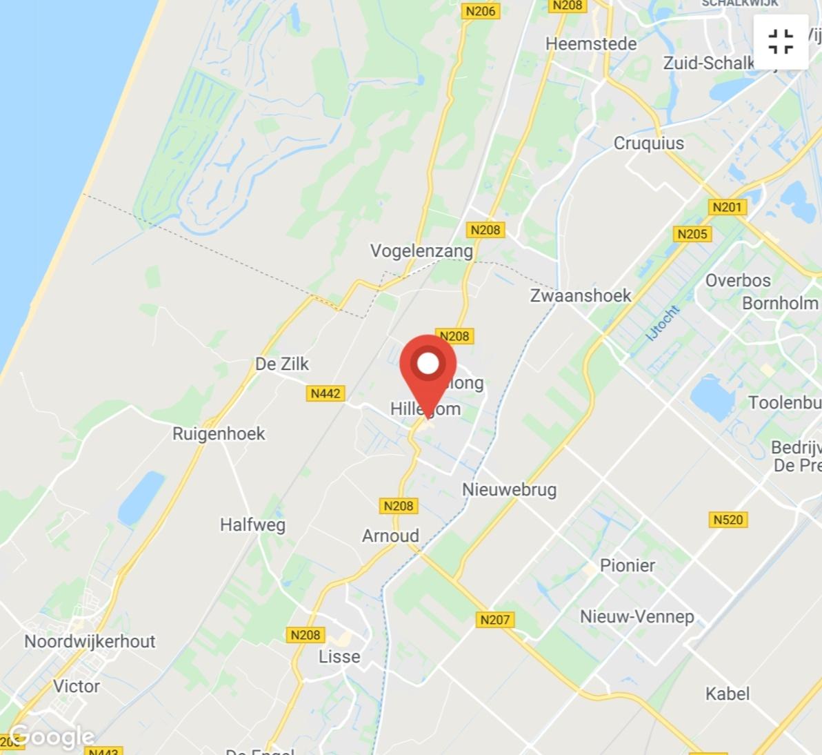 Kaart coronatest-hillegom.com - Coronavirus test locaties Hillegom
